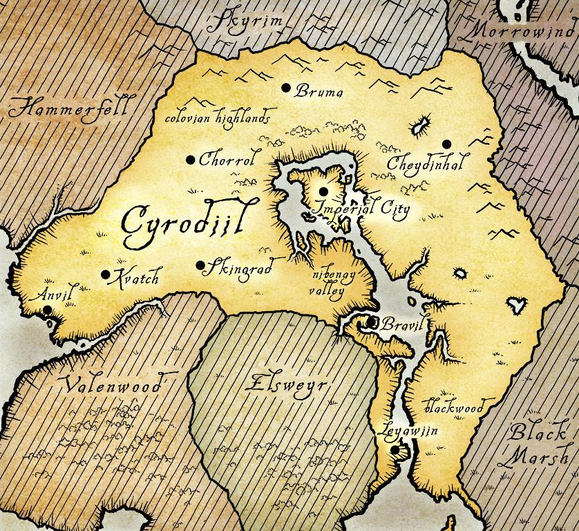 Карта Тамриэля